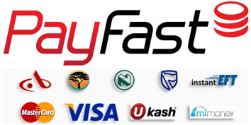 We accept payments by Payfast